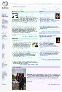 Agnes Milowka on Wikipedia's main page